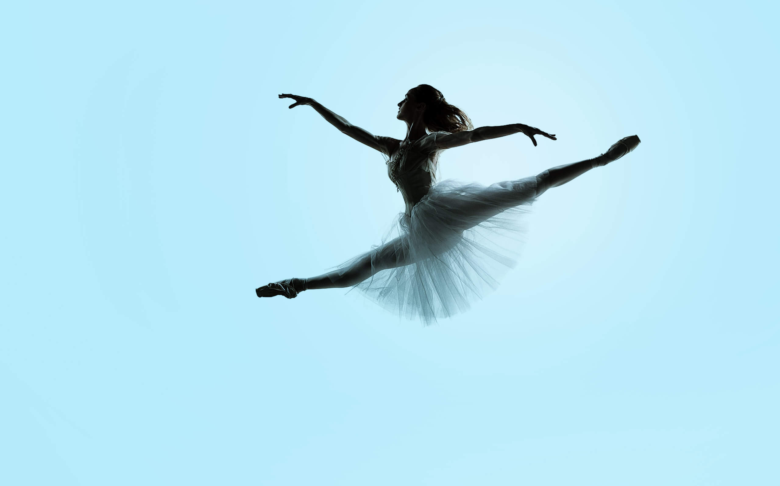 Photograph of Ballerina jumping