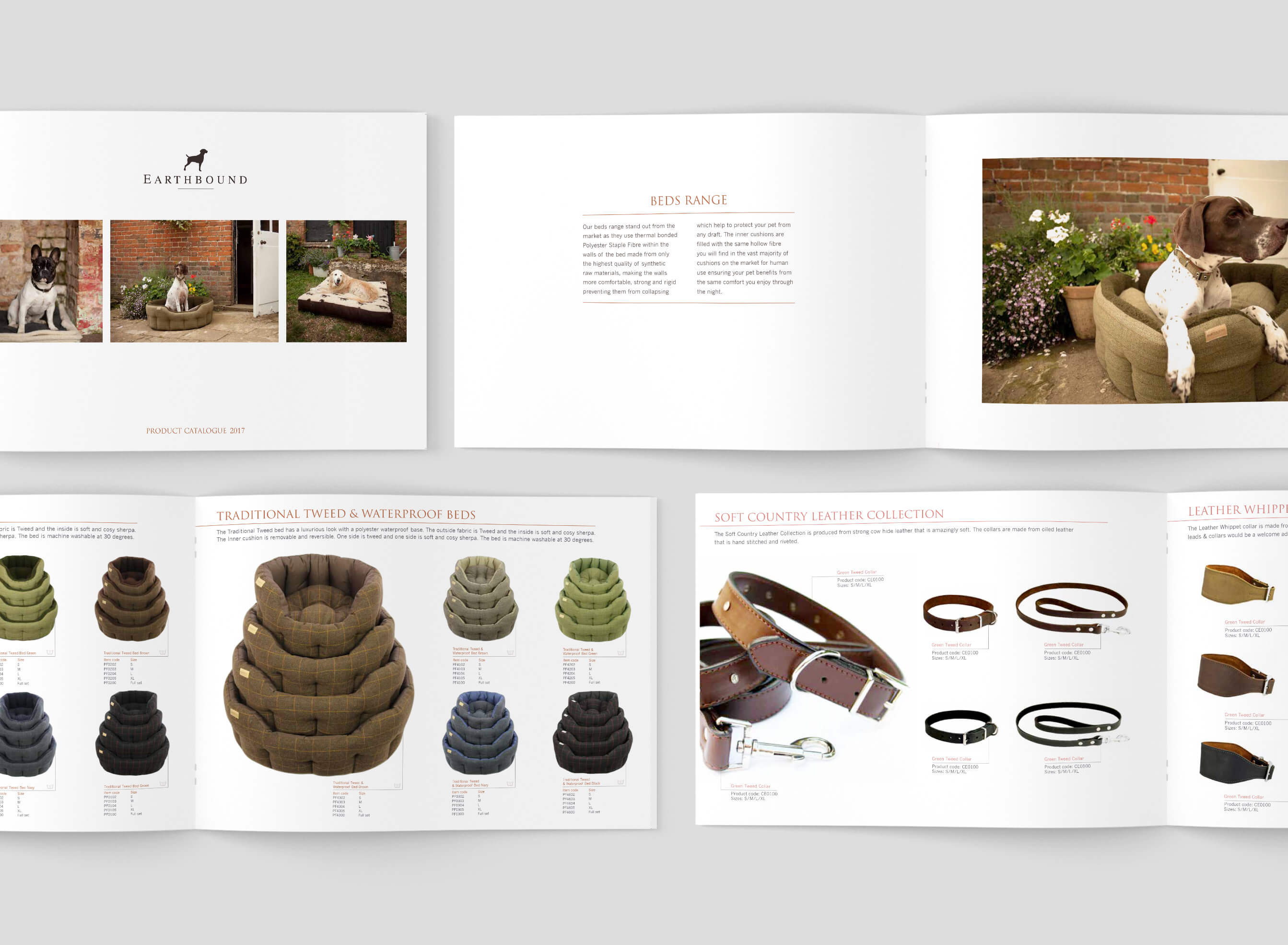 Product catalogue designed and printed for Earthbound UK